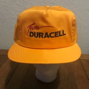 Team Duracell battery vintage hat SnapBack yellow